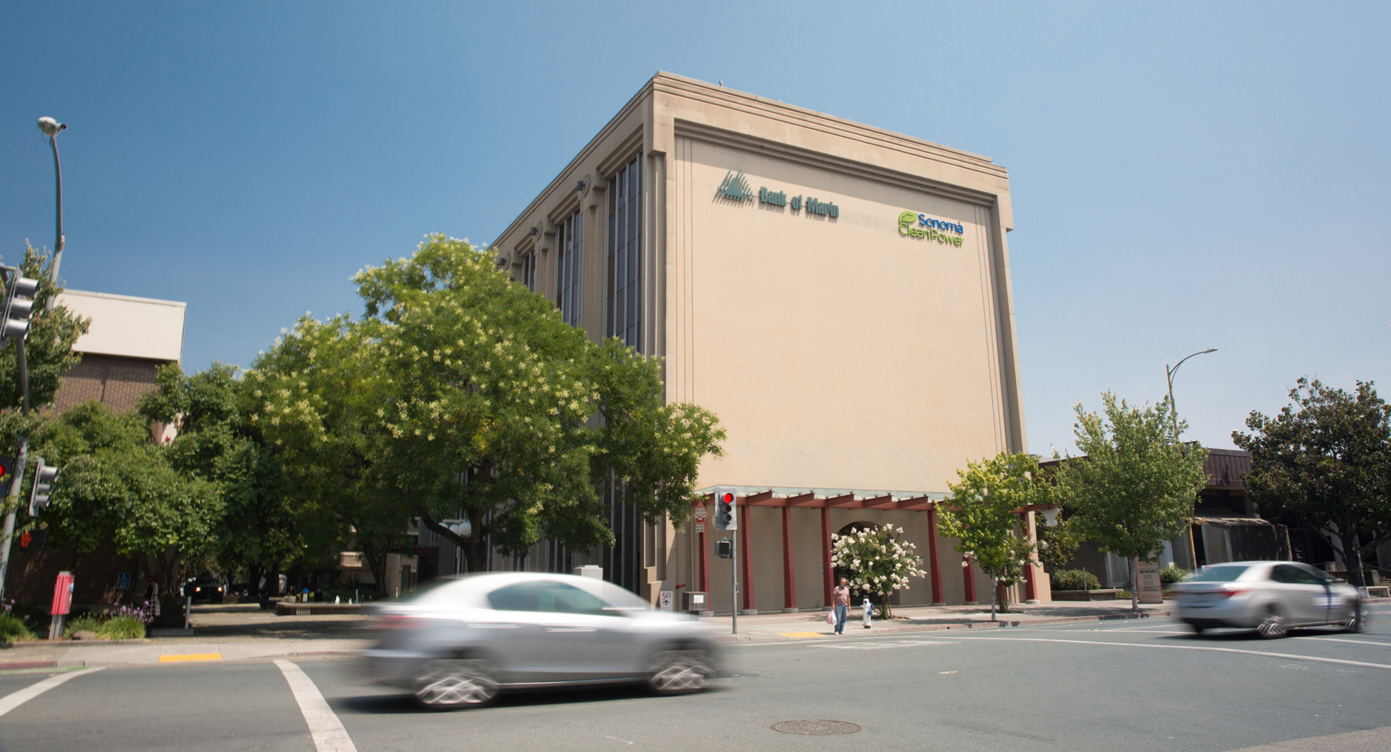 Shot of Santa Rosa Avenue with Doug Shureen's building in the background